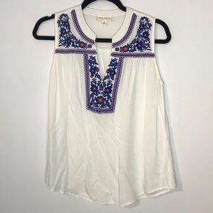 Luna Moon rayonne embroidered tank top